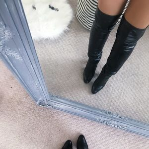 Vintage Nappa Leather Thigh High Boots 7.5✨